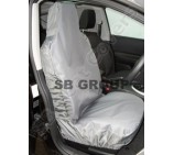 Toyota Landcruiser jeep seat covers deluxe waterproof grey - 2 fronts
